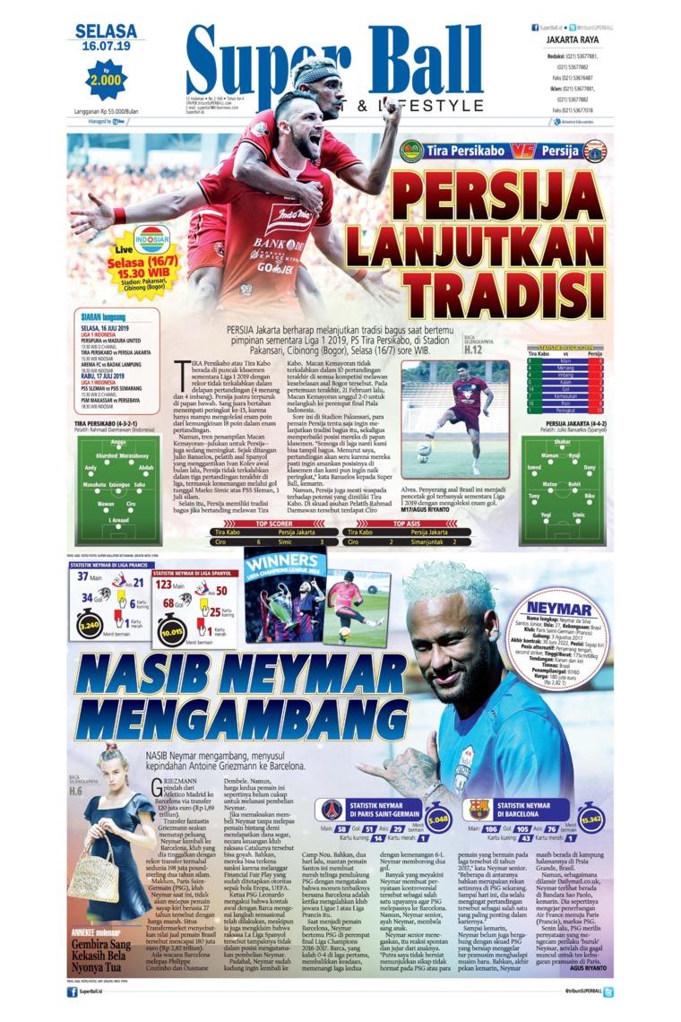 Koran Digital Superball 16 Juli 2019