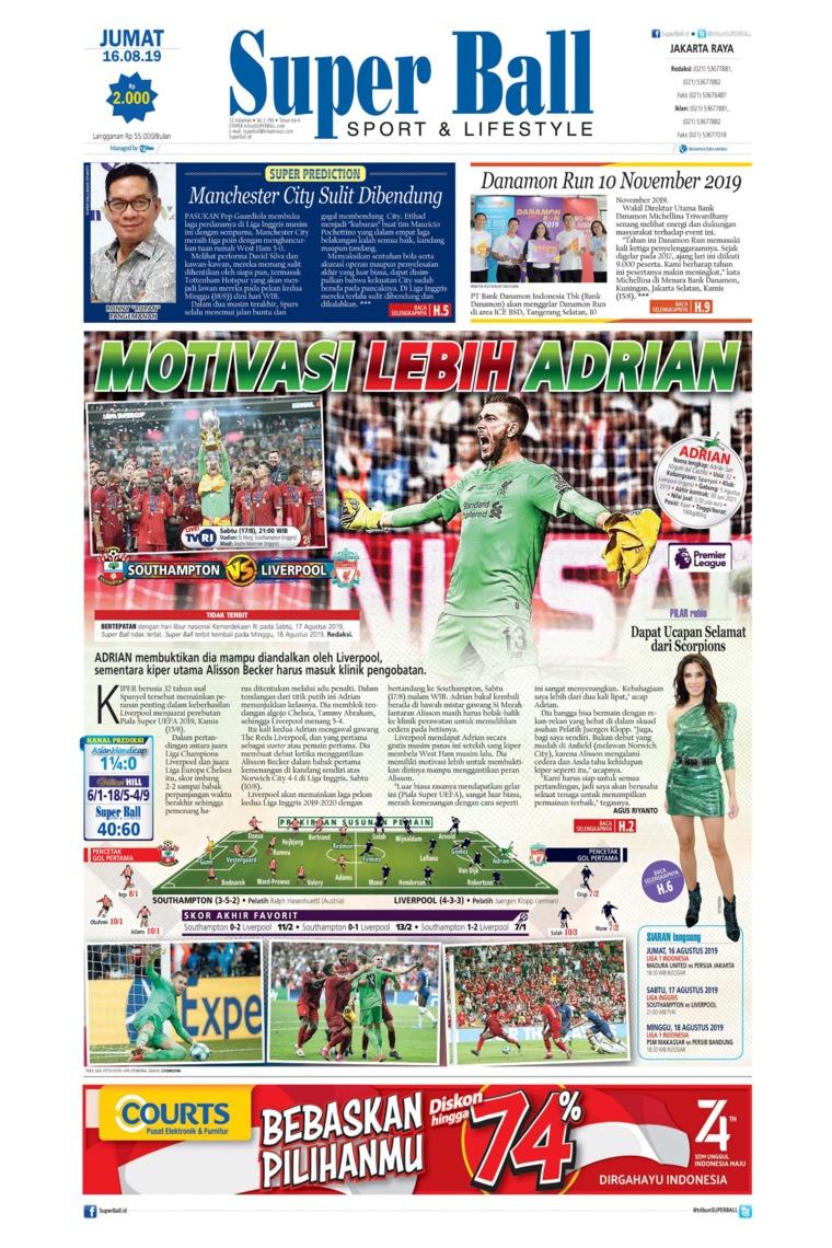 Superball Digital Newspaper 16 August 2019