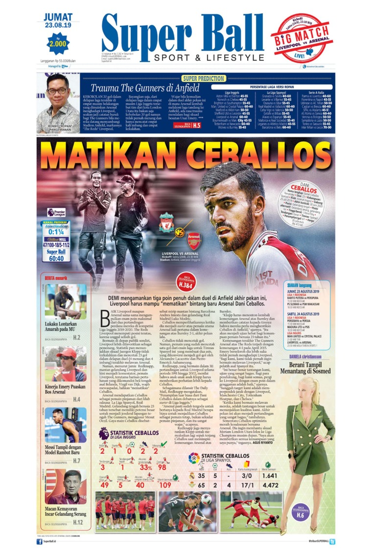 Koran Digital Superball 23 Agustus 2019