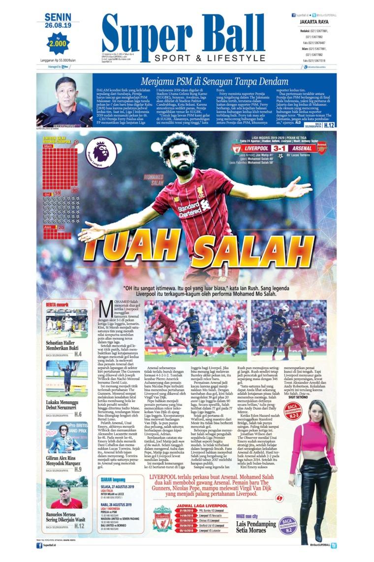 Koran Digital Superball 26 Agustus 2019