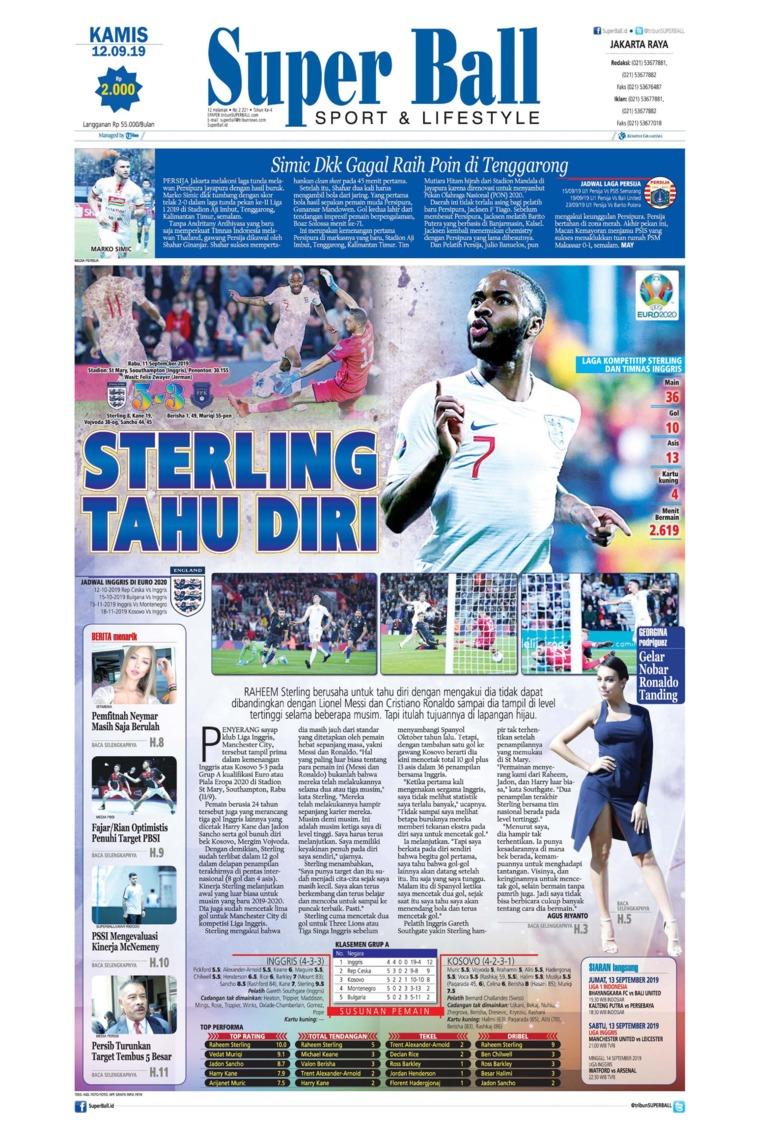 Superball Digital Newspaper 12 September 2019