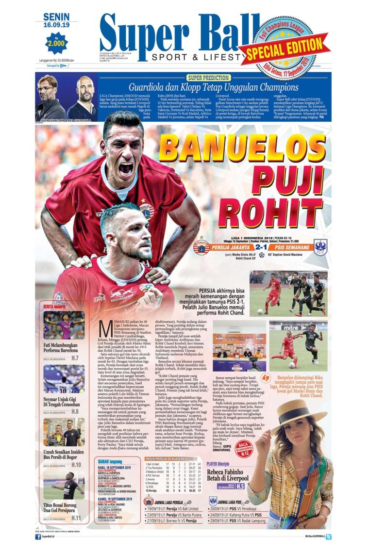 Superball Digital Newspaper 16 September 2019