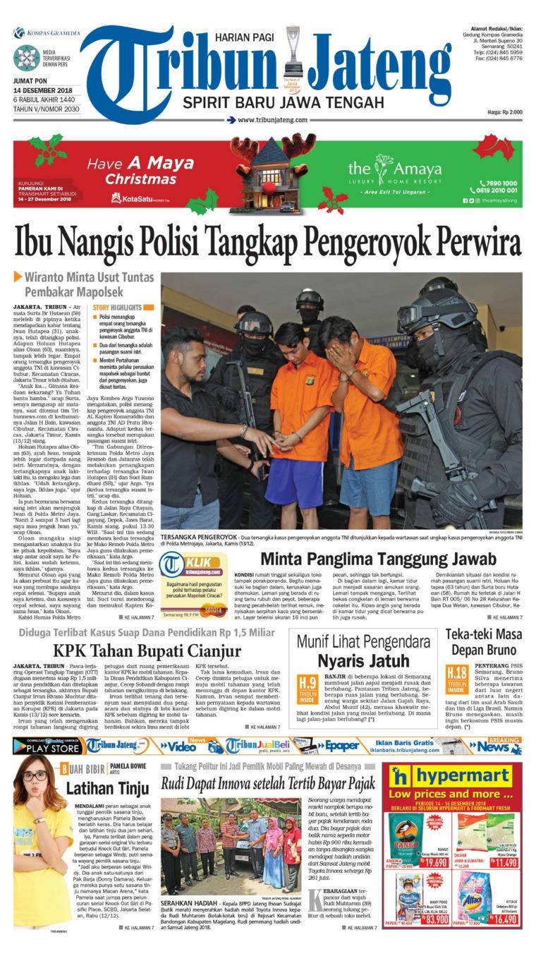 Tribun Jateng Digital Newspaper 14 December 2018