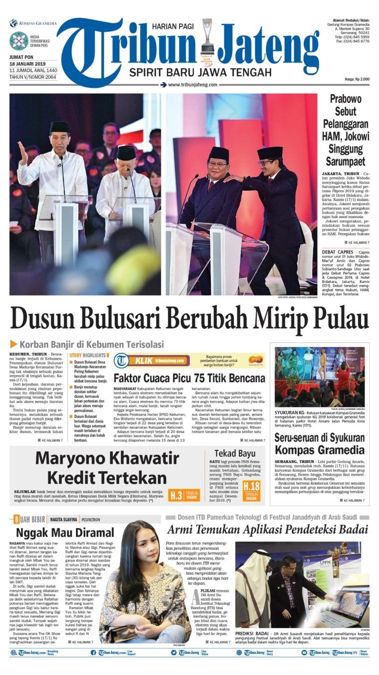 Koran Digital Tribun Jateng 18 Januari 2019