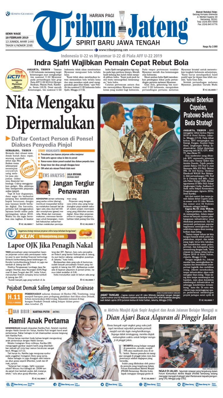 Tribun Jateng Digital Newspaper 18 February 2019