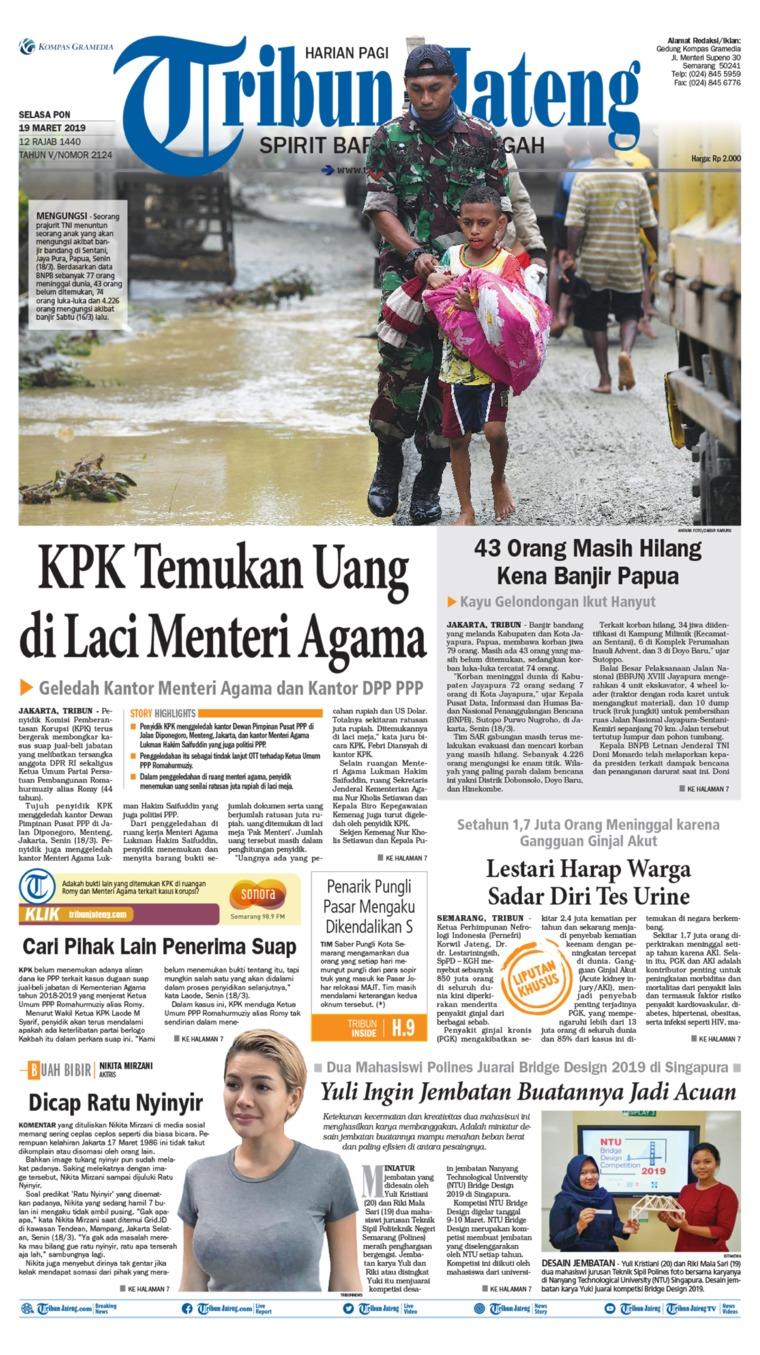 Koran Digital Tribun Jateng 19 Maret 2019