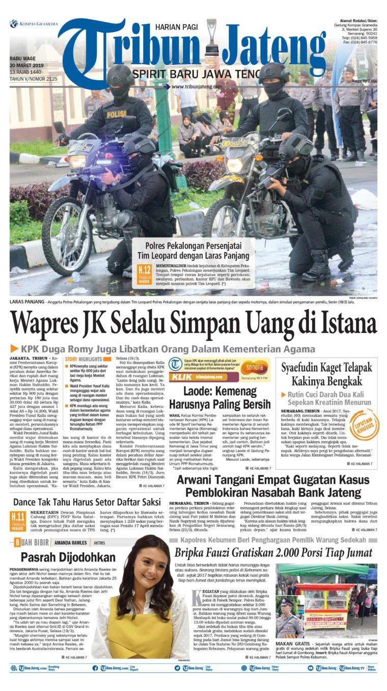 Koran Digital Tribun Jateng 20 Maret 2019