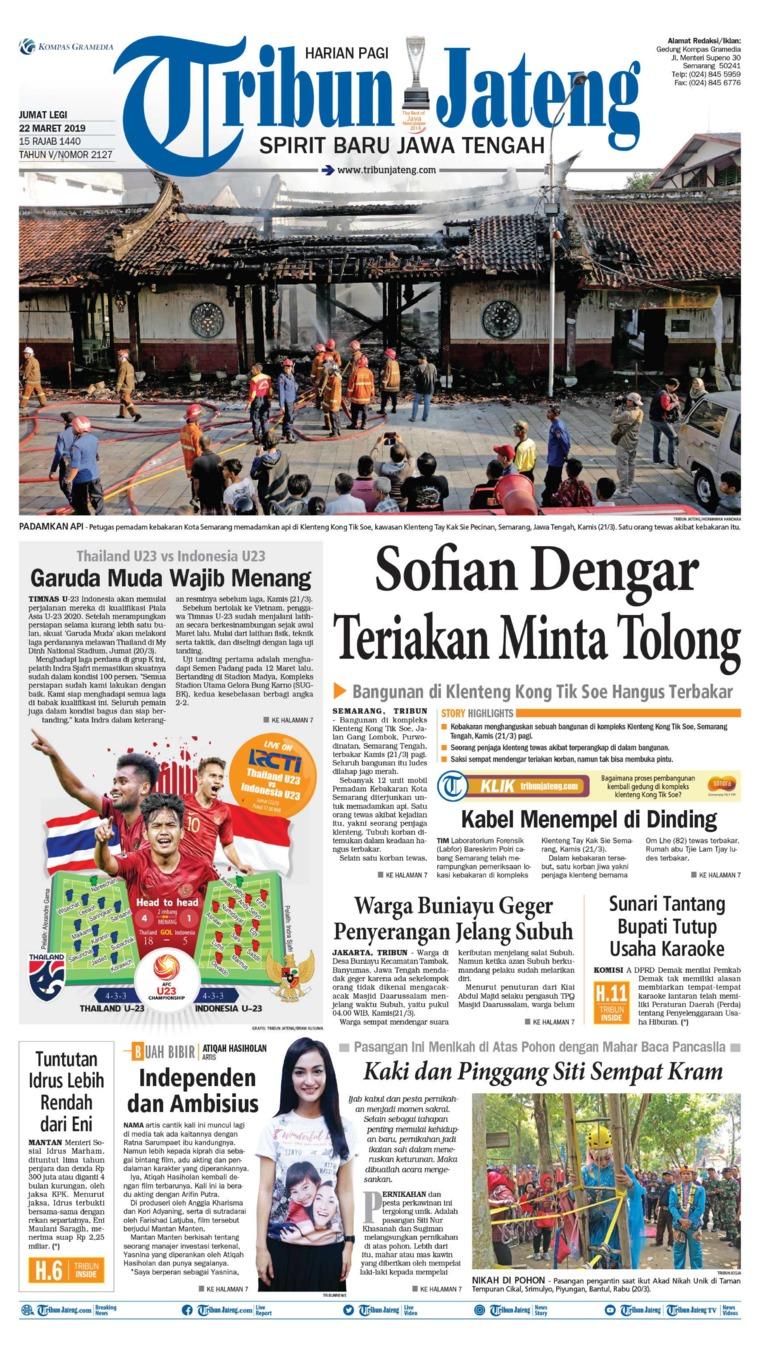 Koran Digital Tribun Jateng 22 Maret 2019