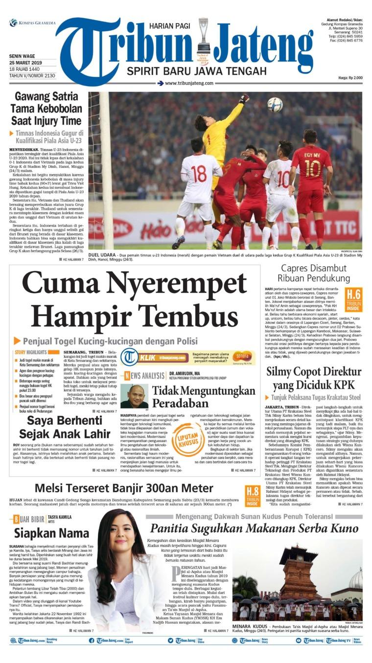 Tribun Jateng Digital Newspaper 25 March 2019