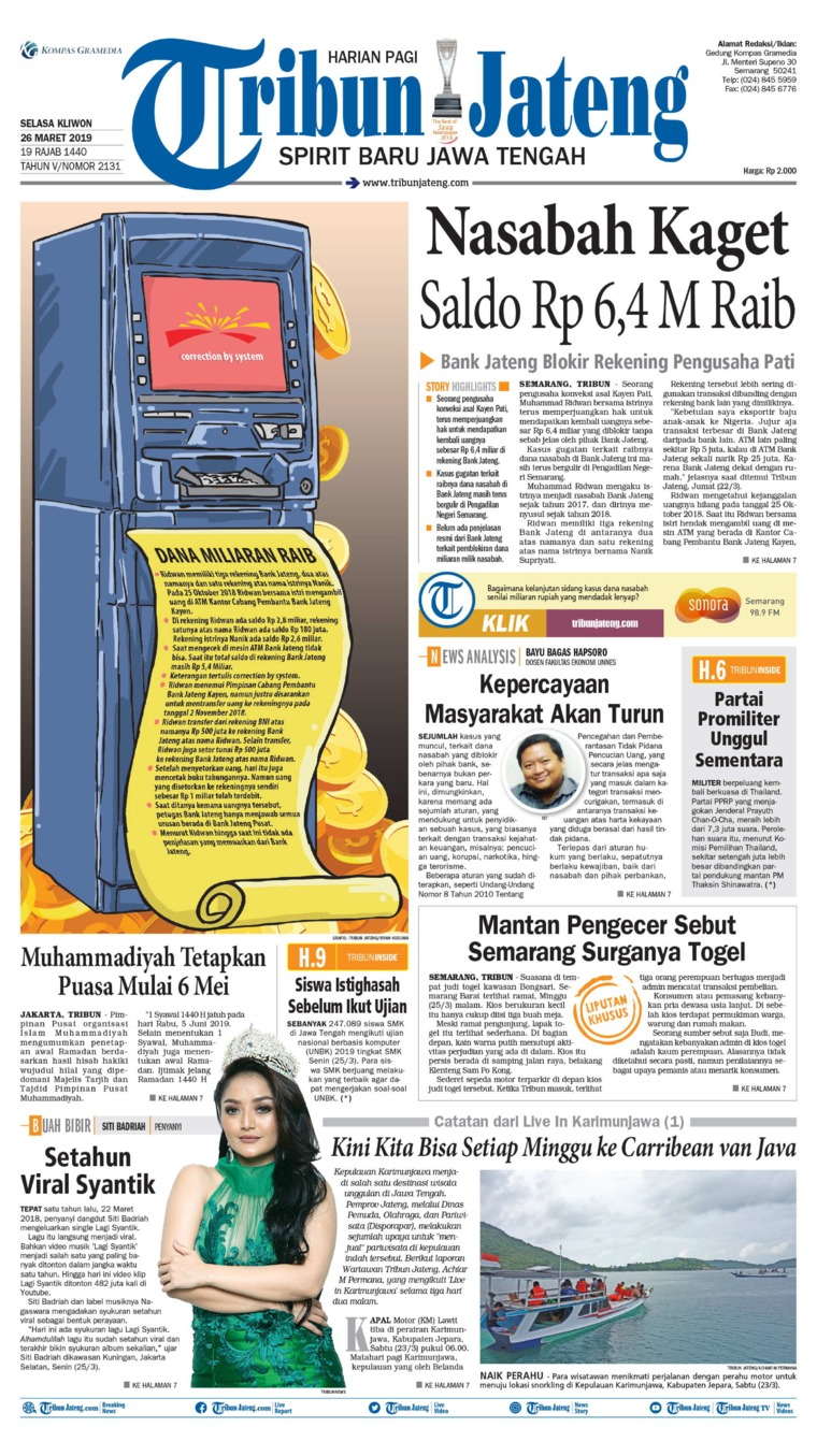 Tribun Jateng Digital Newspaper 26 March 2019