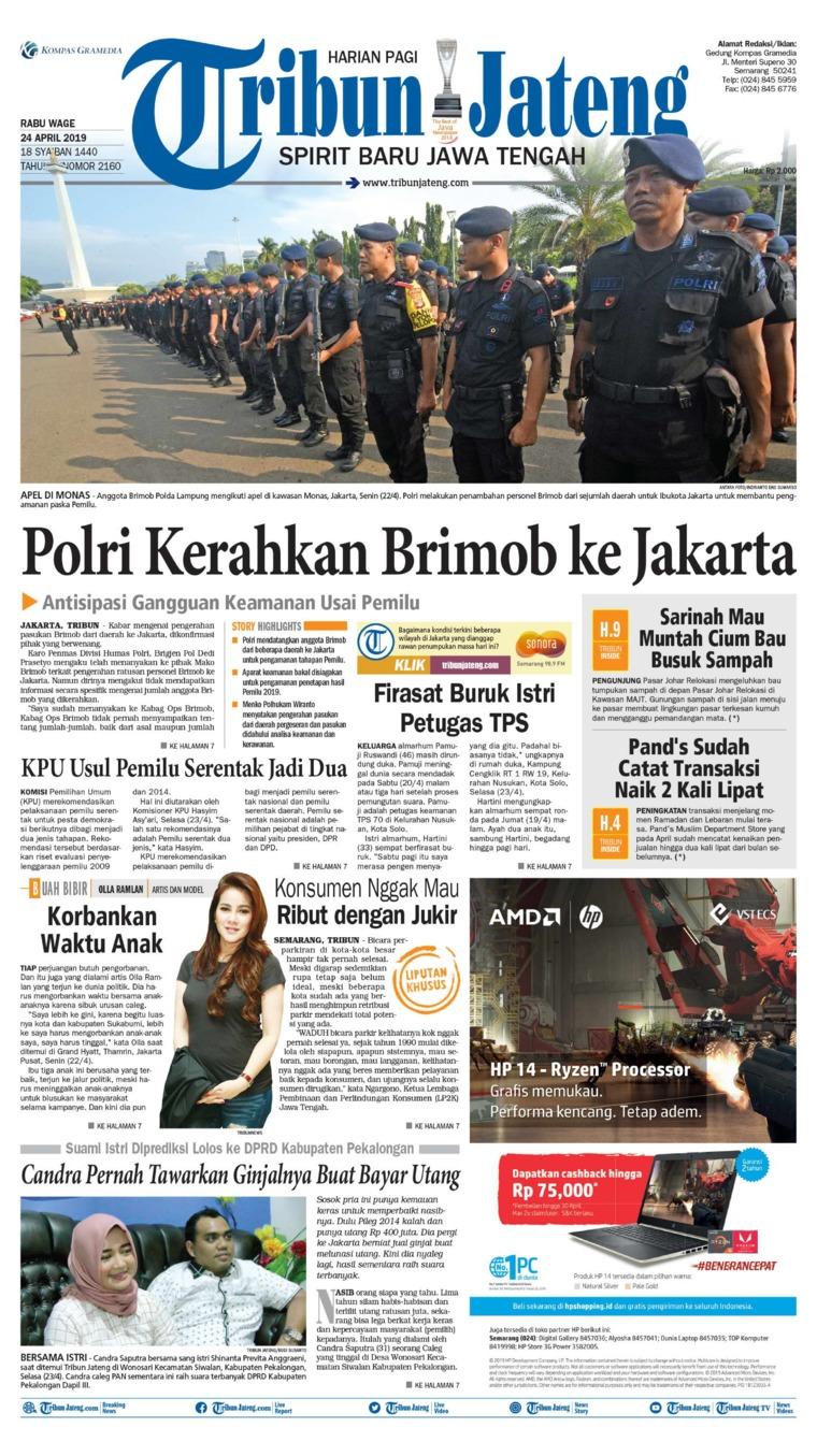 Tribun Jateng Digital Newspaper 24 April 2019