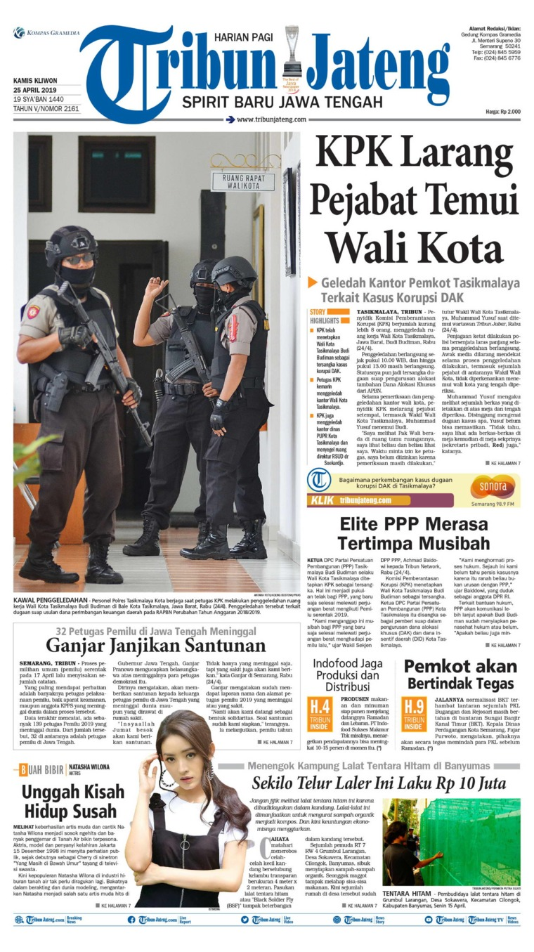 Koran Digital Tribun Jateng 25 April 2019