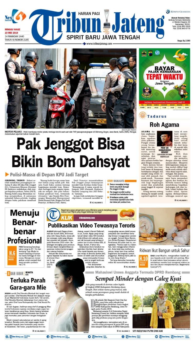 Tribun Jateng Digital Newspaper 19 May 2019