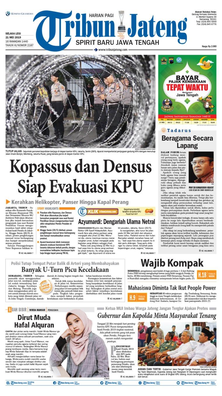 Tribun Jateng Digital Newspaper 21 May 2019
