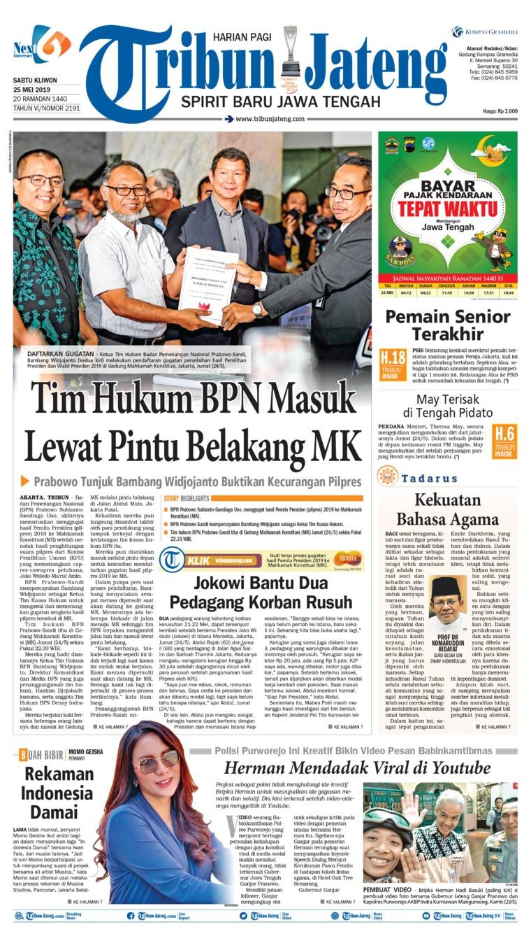 Tribun Jateng Digital Newspaper 25 May 2019