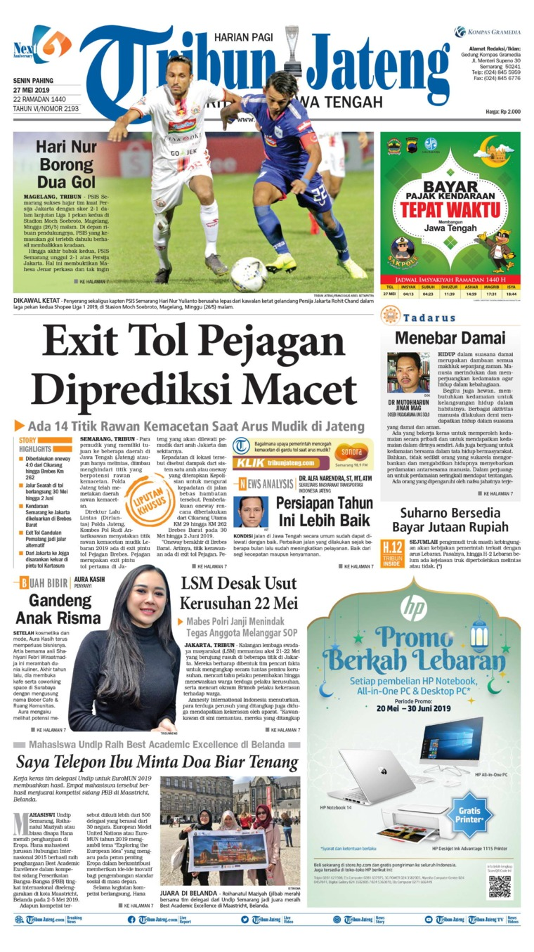 Tribun Jateng Digital Newspaper 27 May 2019