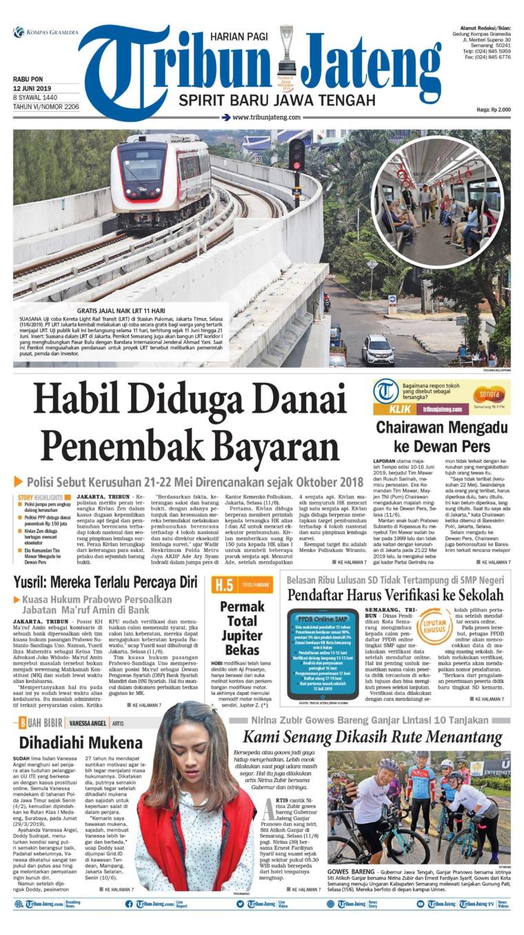 Tribun Jateng Digital Newspaper 12 June 2019