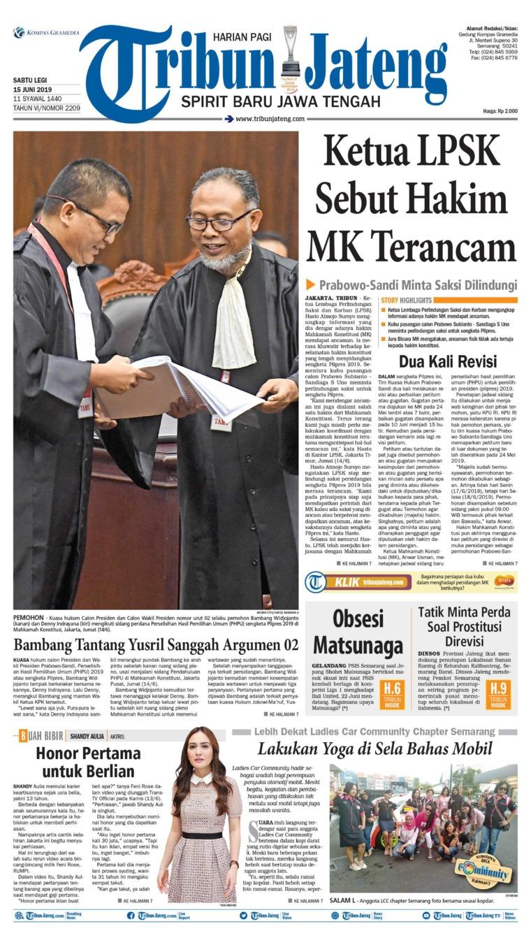 Tribun Jateng Digital Newspaper 15 June 2019