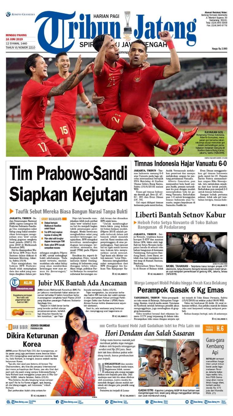 Tribun Jateng Digital Newspaper 16 June 2019