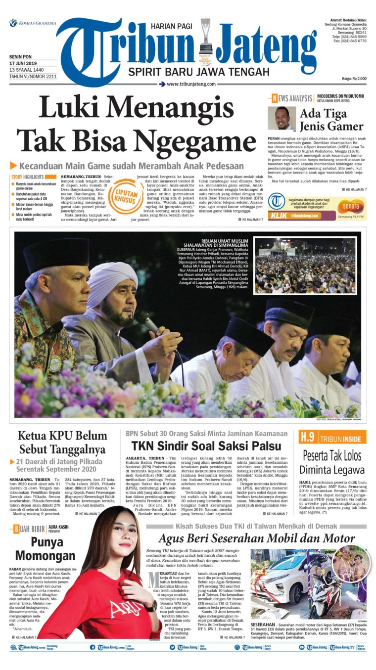 Koran Digital Tribun Jateng 17 Juni 2019