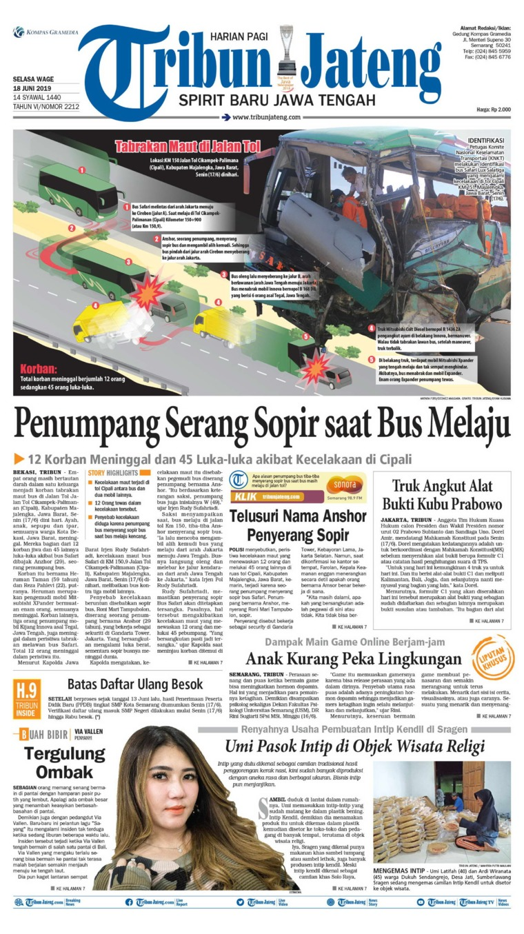 Tribun Jateng Digital Newspaper 18 June 2019