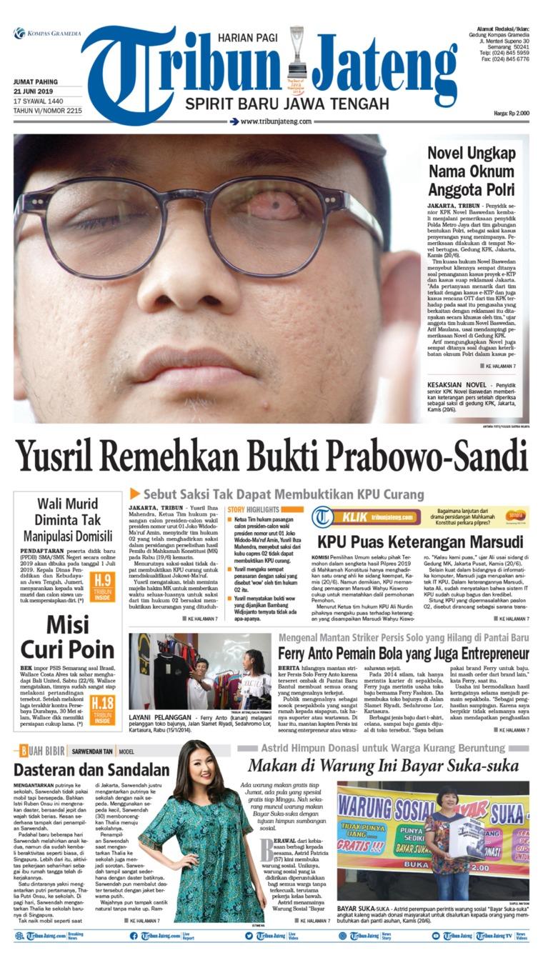 Tribun Jateng Digital Newspaper 21 June 2019