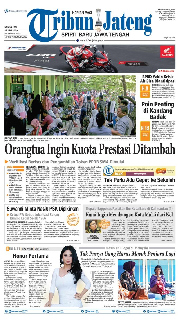 Koran Digital Tribun Jateng 25 Juni 2019
