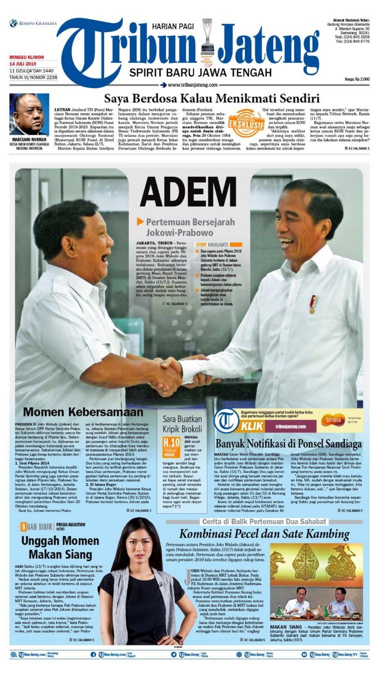 Tribun Jateng Digital Newspaper 14 July 2019
