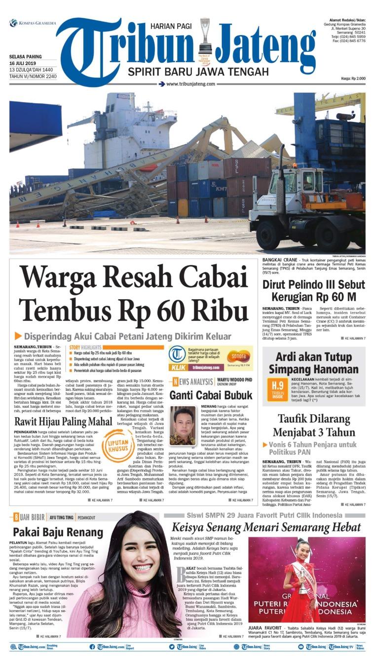 Koran Digital Tribun Jateng 16 Juli 2019
