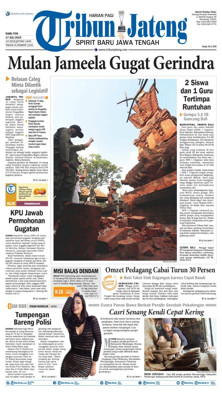 Koran Digital Tribun Jateng 17 Juli 2019