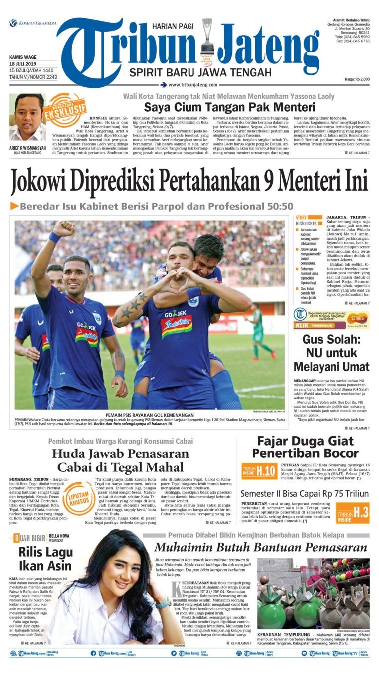 Tribun Jateng Digital Newspaper 18 July 2019