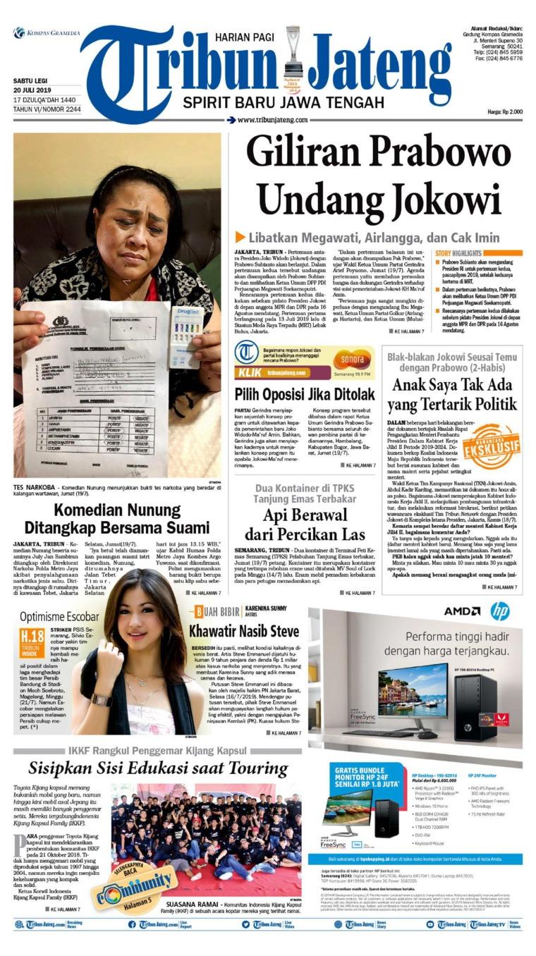 Koran Digital Tribun Jateng 20 Juli 2019