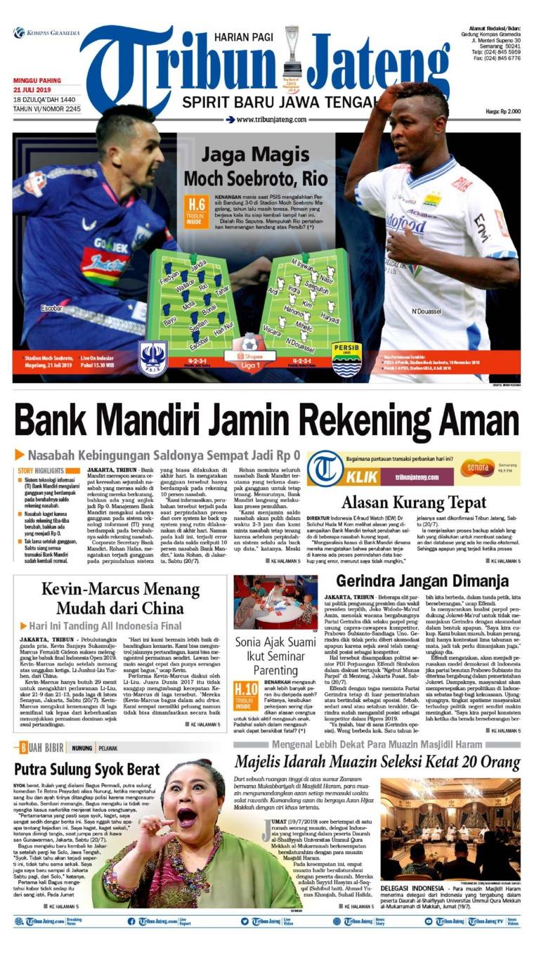 Koran Digital Tribun Jateng 21 Juli 2019