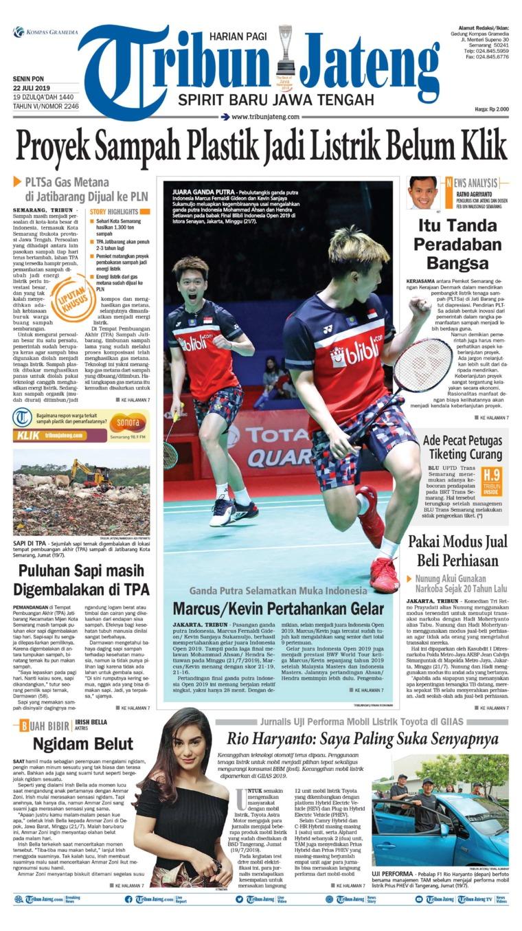 Tribun Jateng Digital Newspaper 22 July 2019