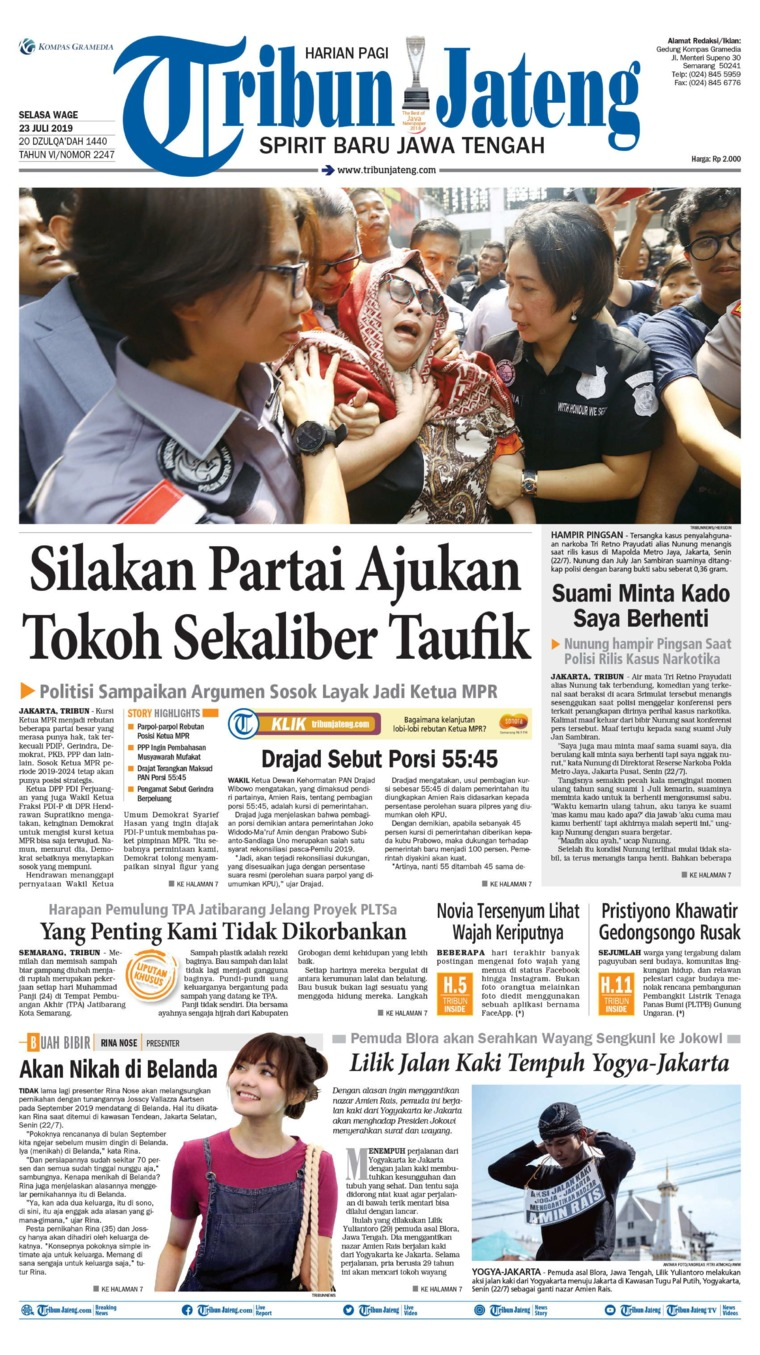 Tribun Jateng Digital Newspaper 23 July 2019