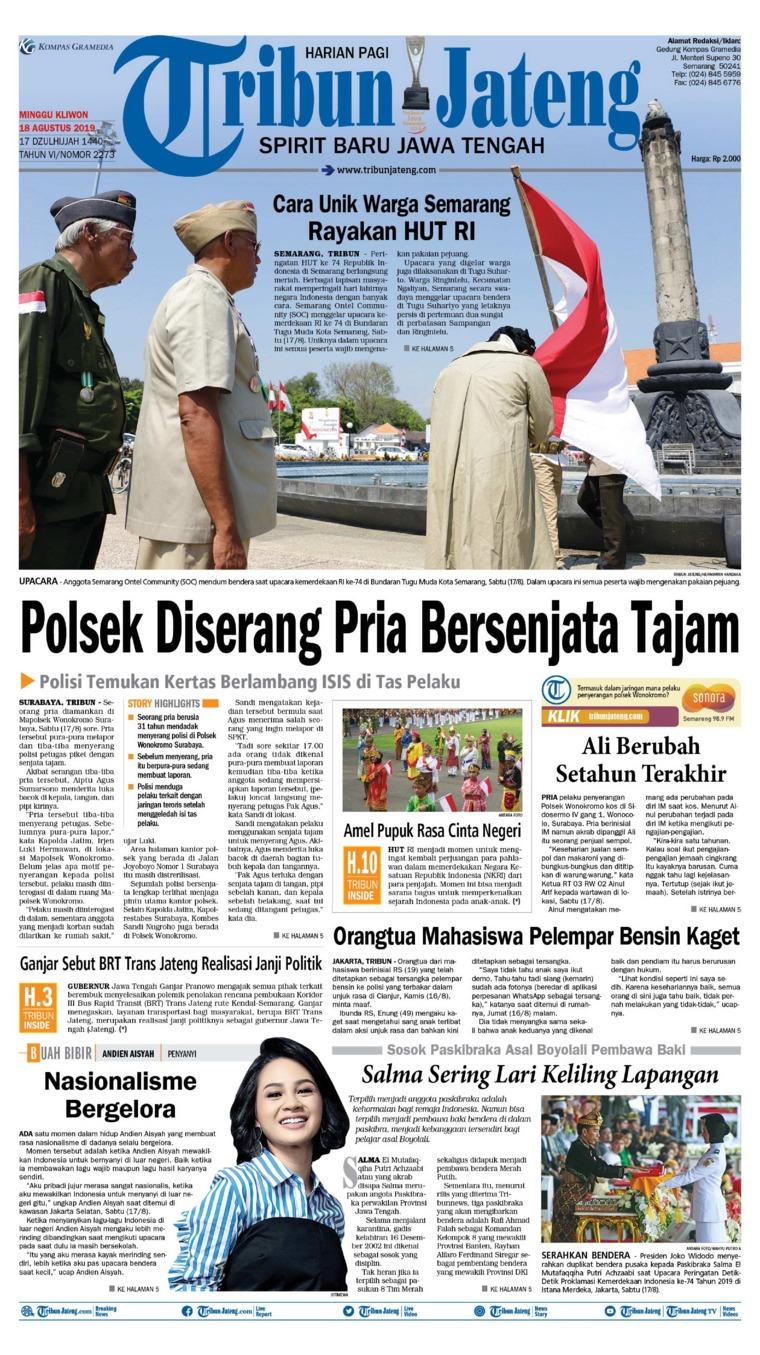 Koran Digital Tribun Jateng 18 Agustus 2019