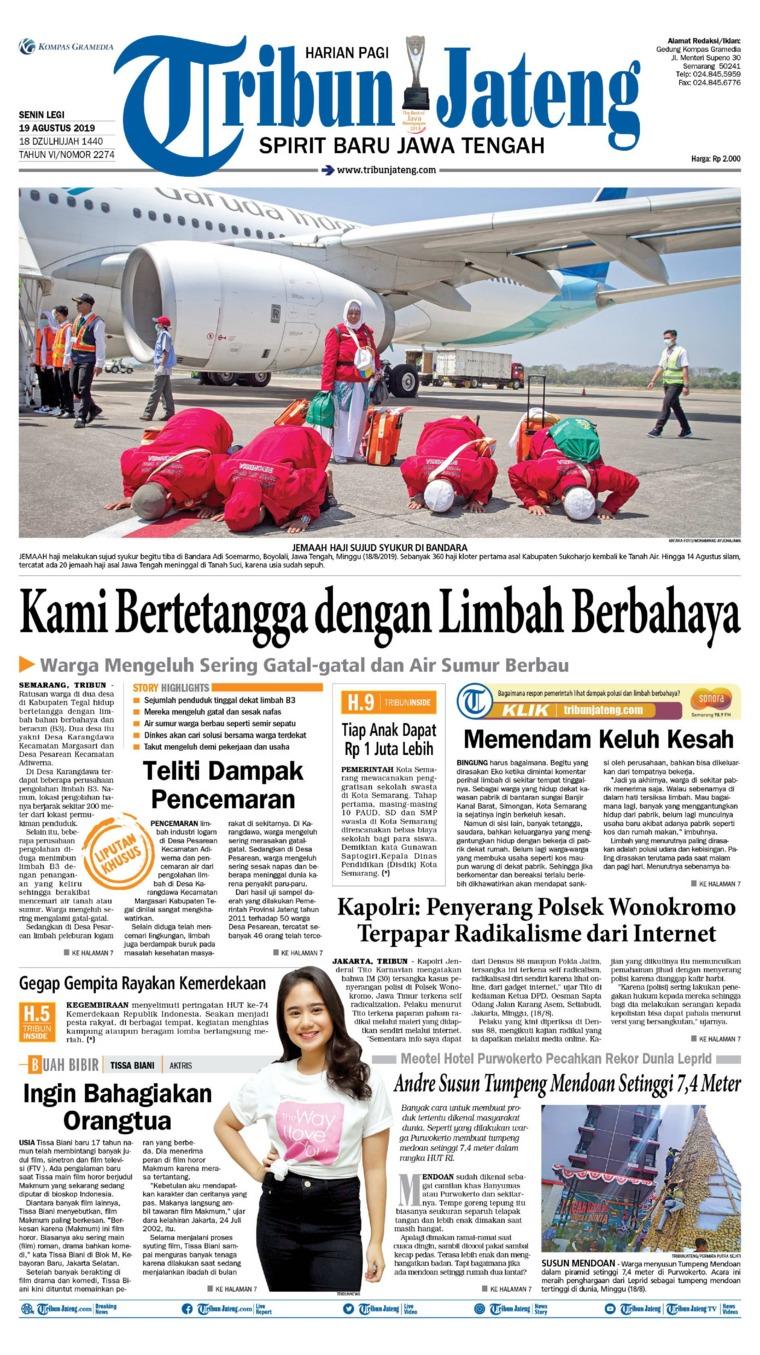 Tribun Jateng Digital Newspaper 19 August 2019