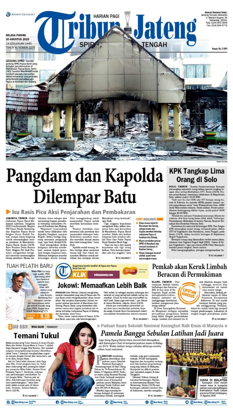 Koran Digital Tribun Jateng 20 Agustus 2019