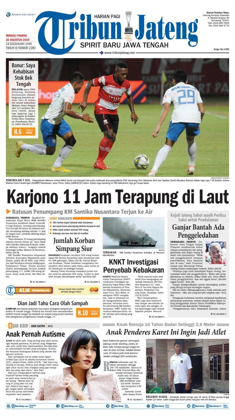 Tribun Jateng Digital Newspaper 25 August 2019