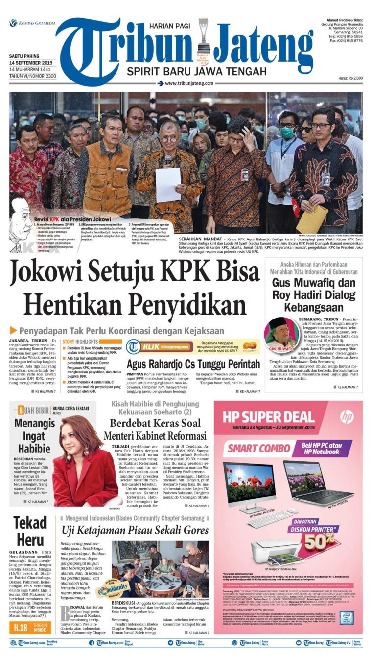 Tribun Jateng Digital Newspaper 14 September 2019