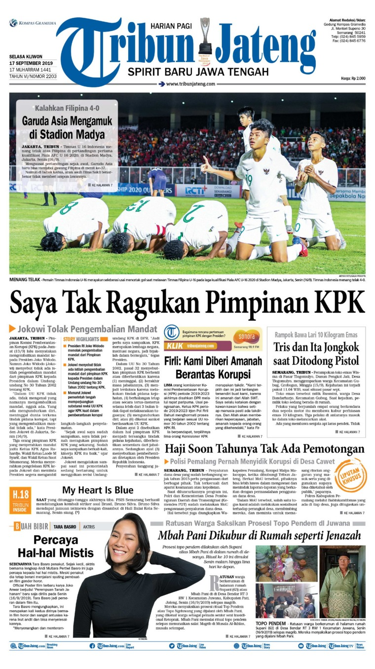 Tribun Jateng Digital Newspaper 17 September 2019
