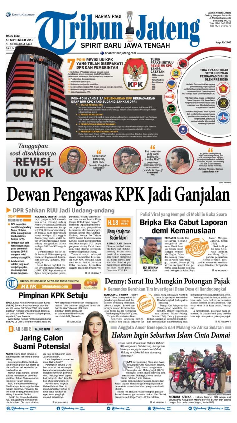 Tribun Jateng Digital Newspaper 18 September 2019