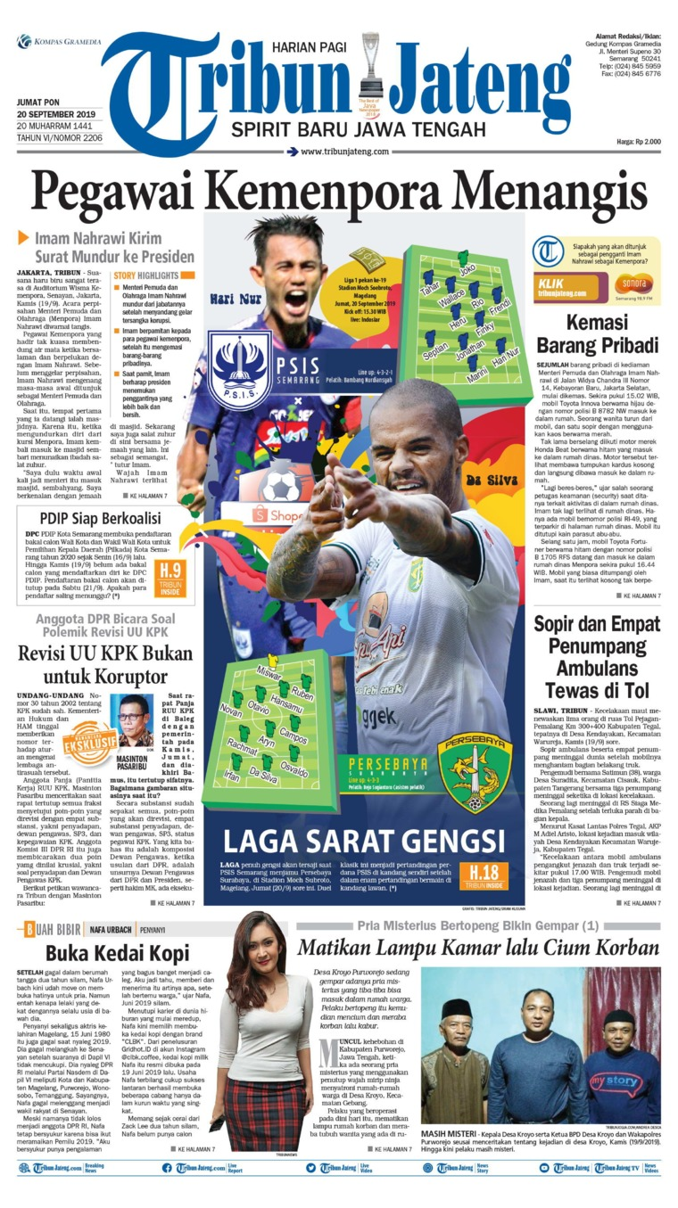 Tribun Jateng Digital Newspaper 20 September 2019