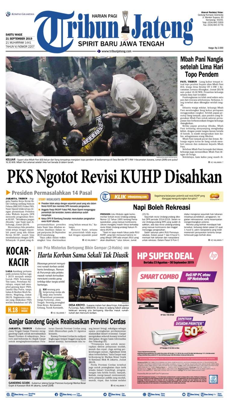 Tribun Jateng Digital Newspaper 21 September 2019