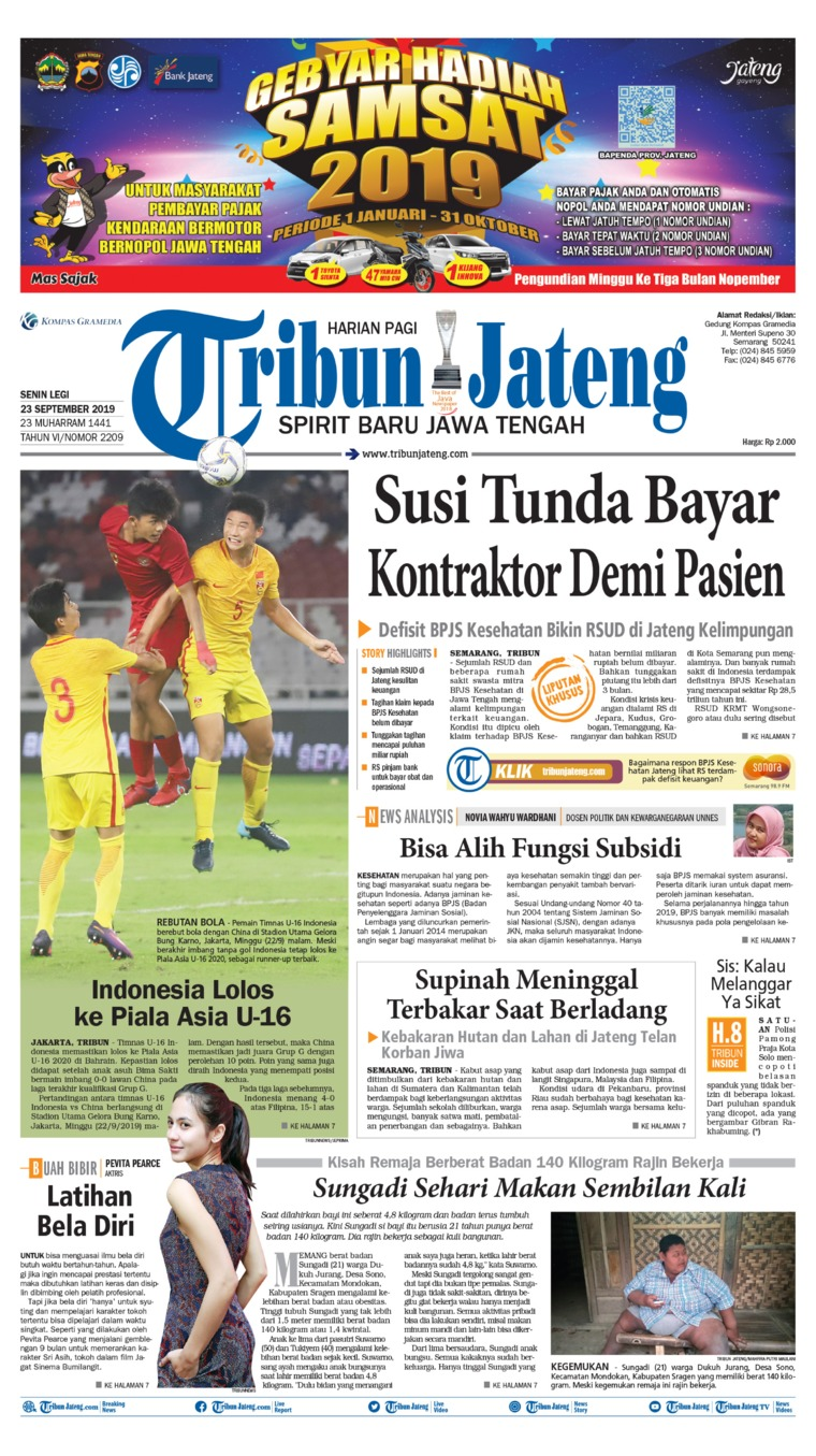 Tribun Jateng Digital Newspaper 23 September 2019