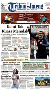 Cover Tribun Jateng 16 Juli 2018