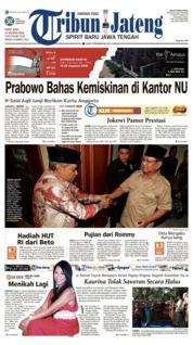 Cover Tribun Jateng 17 Agustus 2018