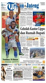Cover Tribun Jateng 18 Oktober 2018