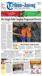 Cover Tribun Jateng 14 Desember 2018