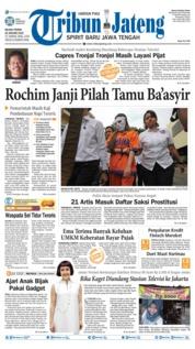 Cover Tribun Jateng 22 Januari 2019